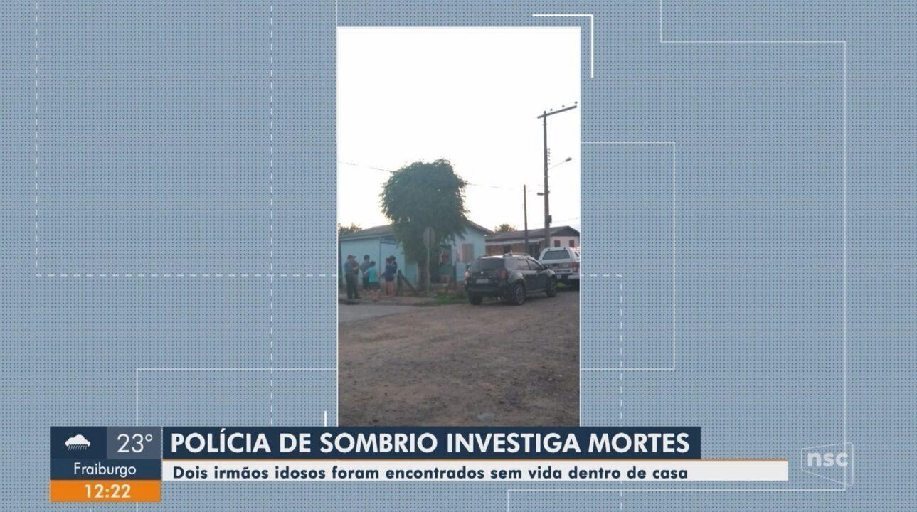 Polícia investiga caso de idosos encontrados mortos dentro de casa em Sombrio