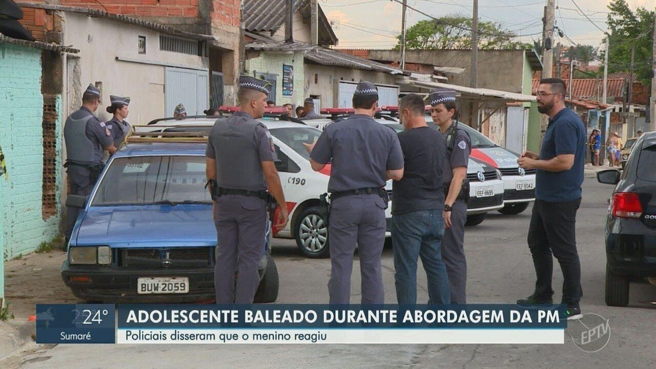Adolescente de 15 anos é baleado durante abordagem da Polícia Militar, em Campinas