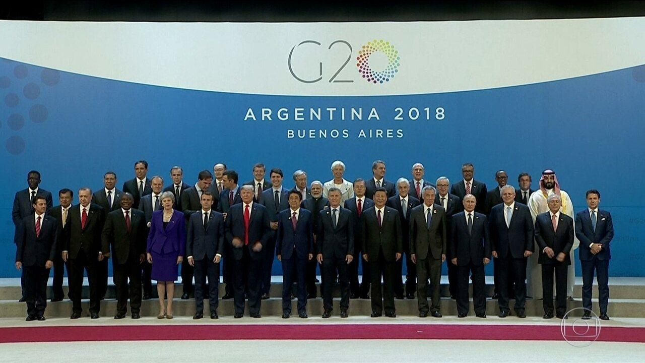 Encontro dos líderes das 20 maiores economias do mundo começa na Argentina