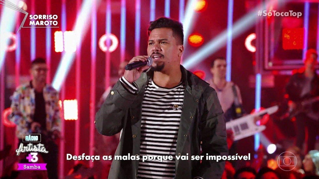 Sorriso Maroto animou o 'SóTocaTop' cantando 'O Impossível'