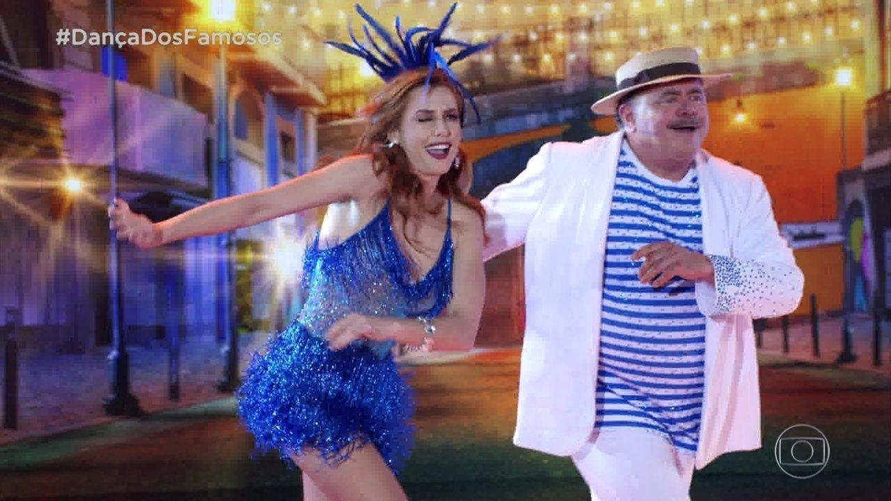 Léo Jaime e Larissa se apresentam com o ritmo Samba