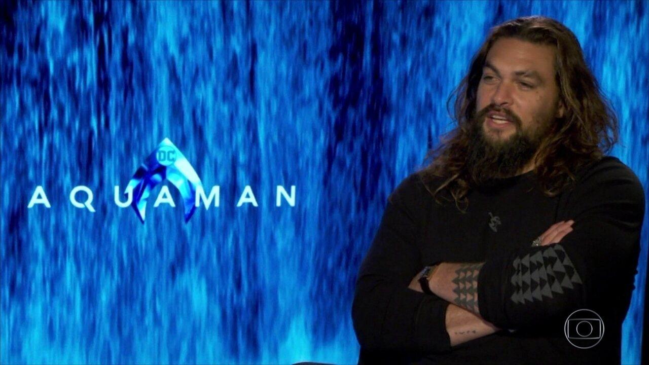 Prestes a estrear 'Aquaman', Jason Momoa conta que sofreu bullying na infância