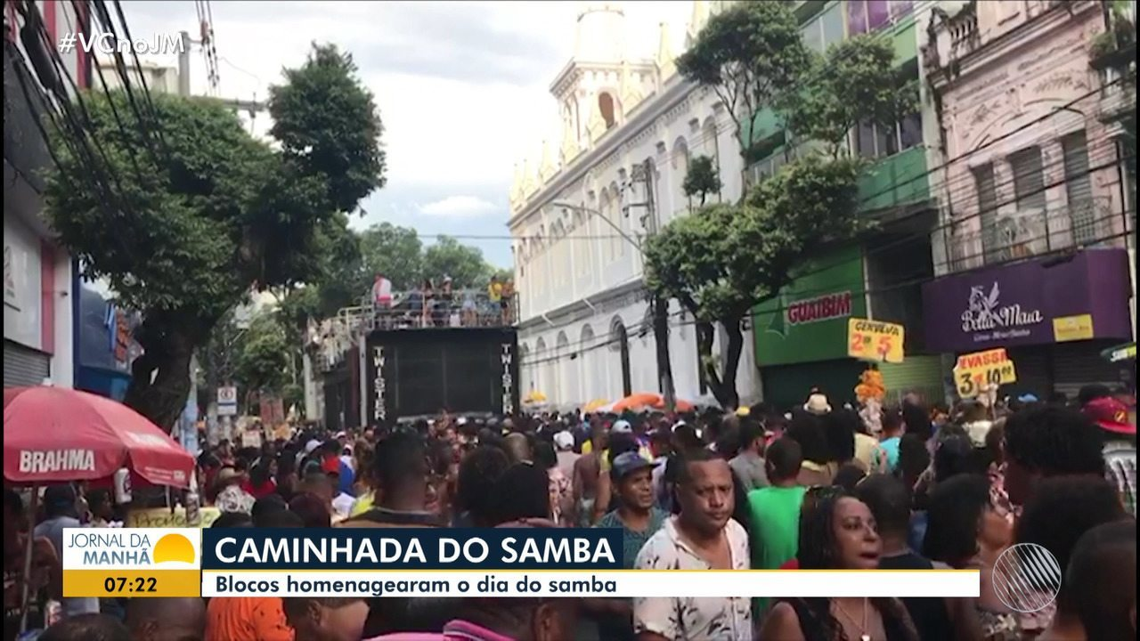 Dia do Samba é comemorado com festa no Campo Grande, em Salvador