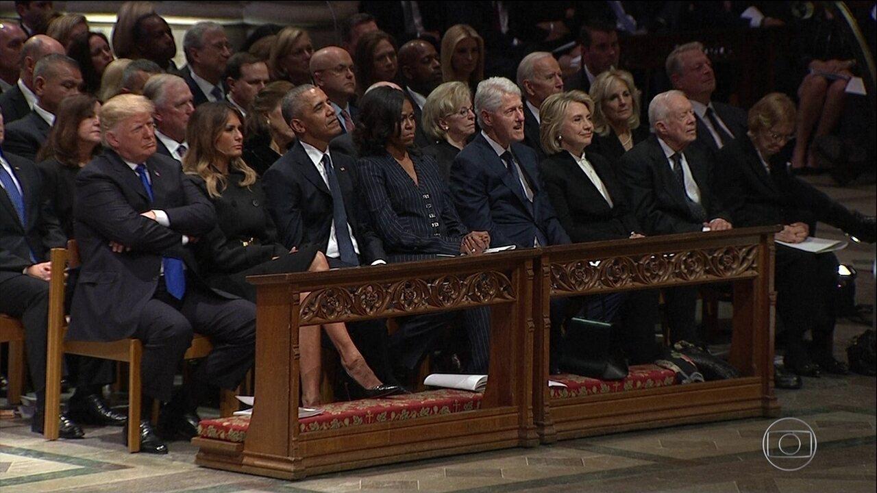 Velório de George H. W. Bush reúne ex-presidentes dos Estados Unidos