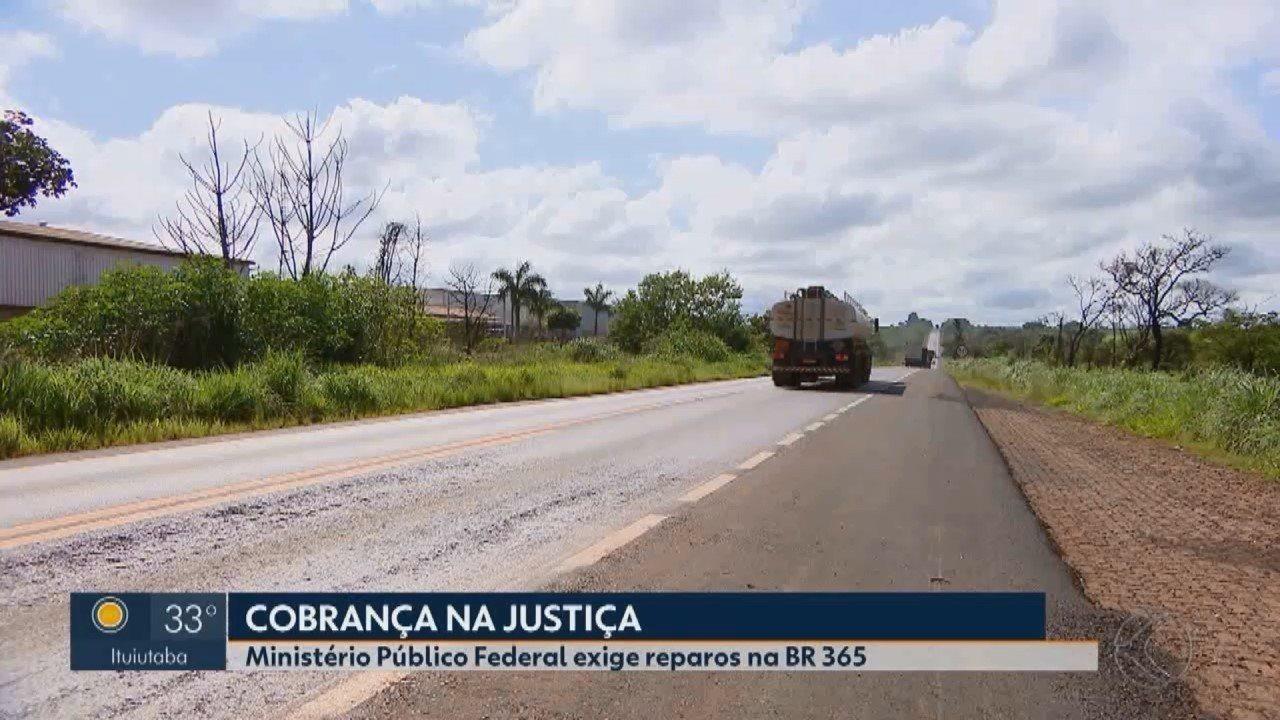MP pede na Justiça que Dnit faça reparos na BR-365