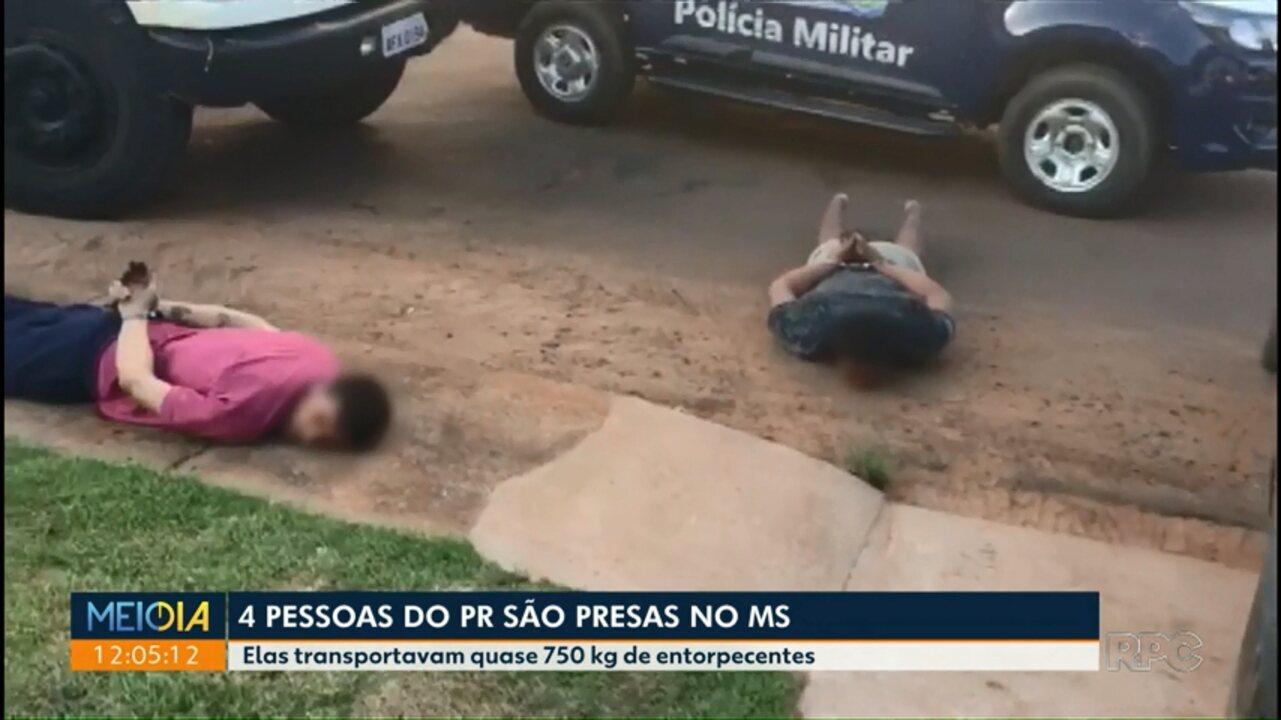 Quatro pessoas da região de Maringá são presas no Mato Grosso do Sul com droga