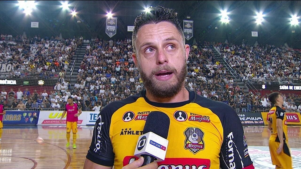 Rodrigo comenta episódio diferente ocorrido com arbitragem na final do Paulista de Futsal