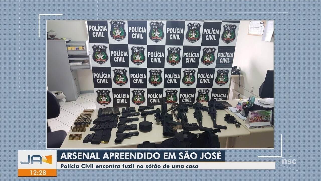 Polícia Civil diz ter feito a maior apreensão de armas do ano em Santa Catarina
