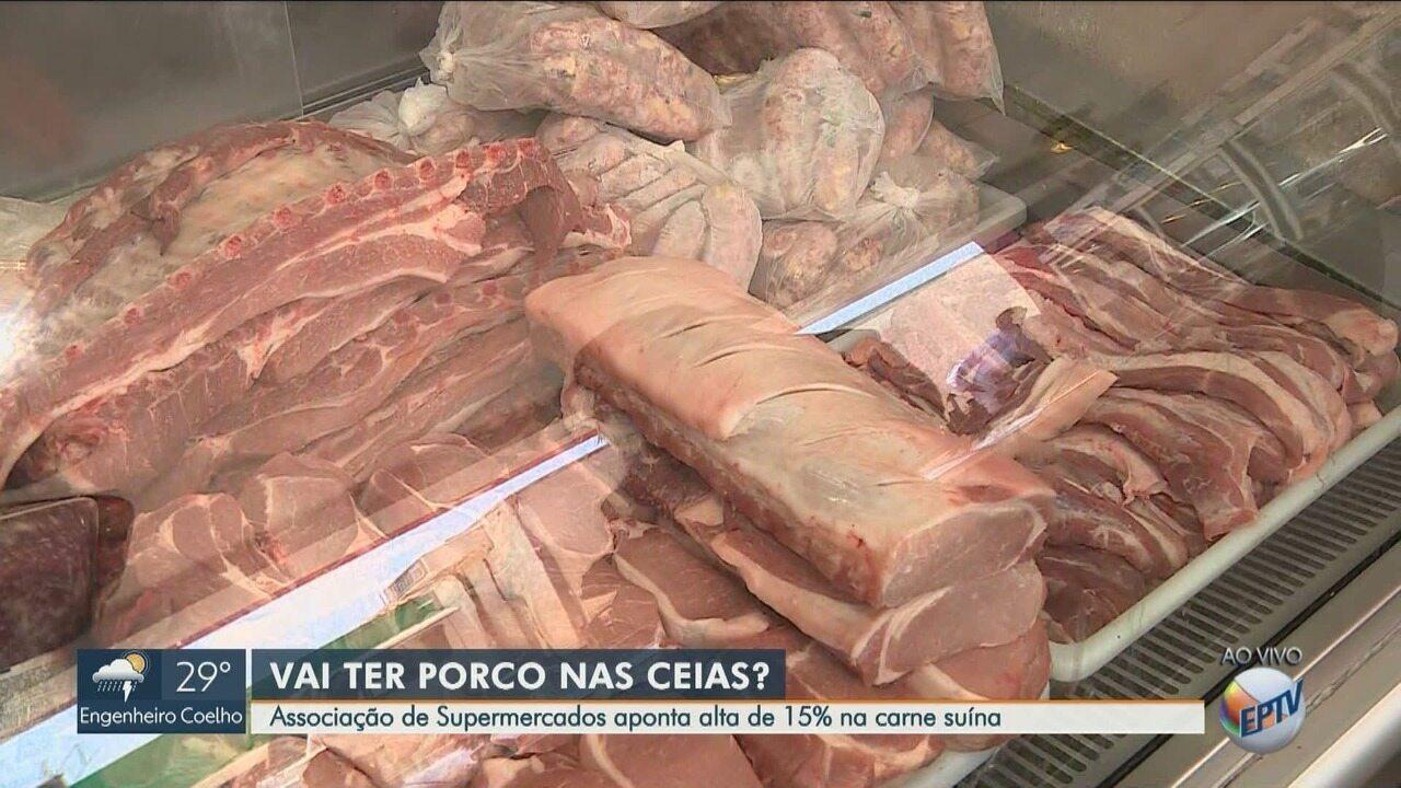 Associação de Supermercados aponta alta de 15% no preço da carne suína