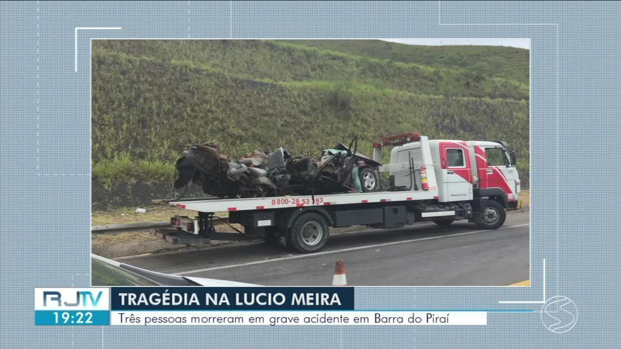 Identificadas vítimas de grave acidente na Lúcio Meira, em Barra do Piraí