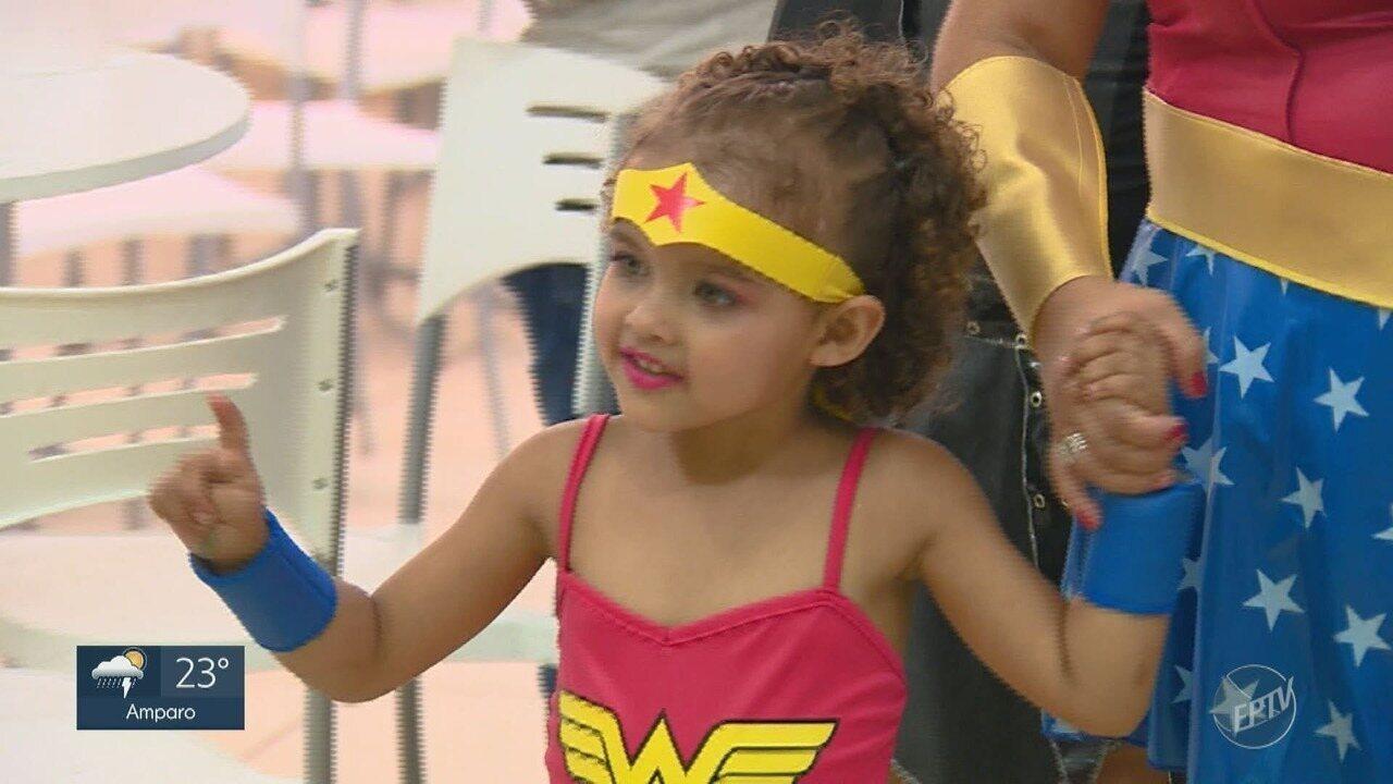 ONG faz festa dos sonhos para criança com leucemia