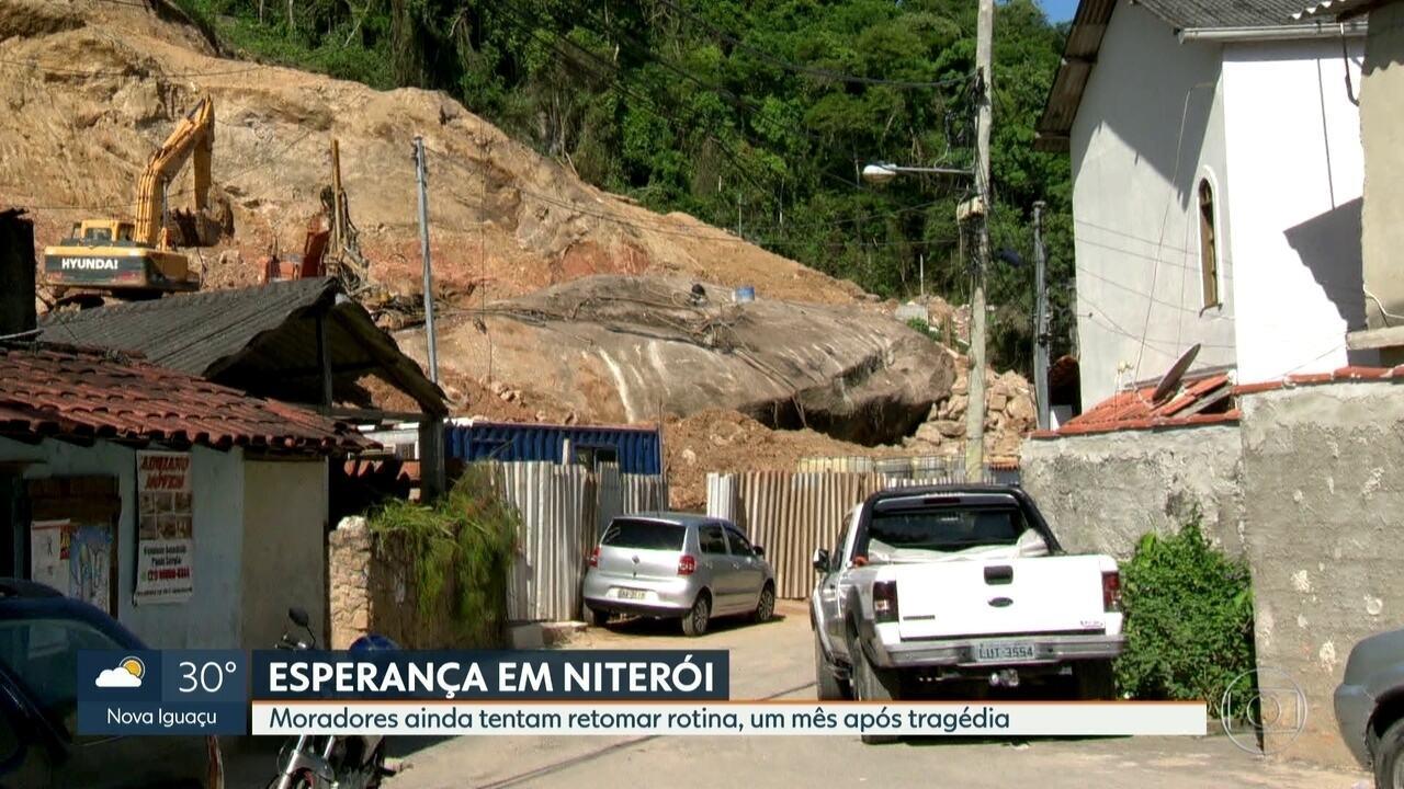 Moradores tentam retomar rotina um mês após deslizamento do Morro Boa  Esperança d4809041b093e