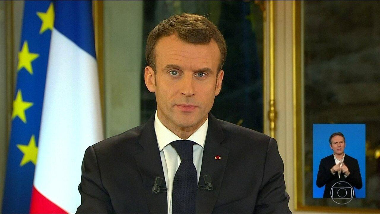 Macron anuncia medidas para conter protestos