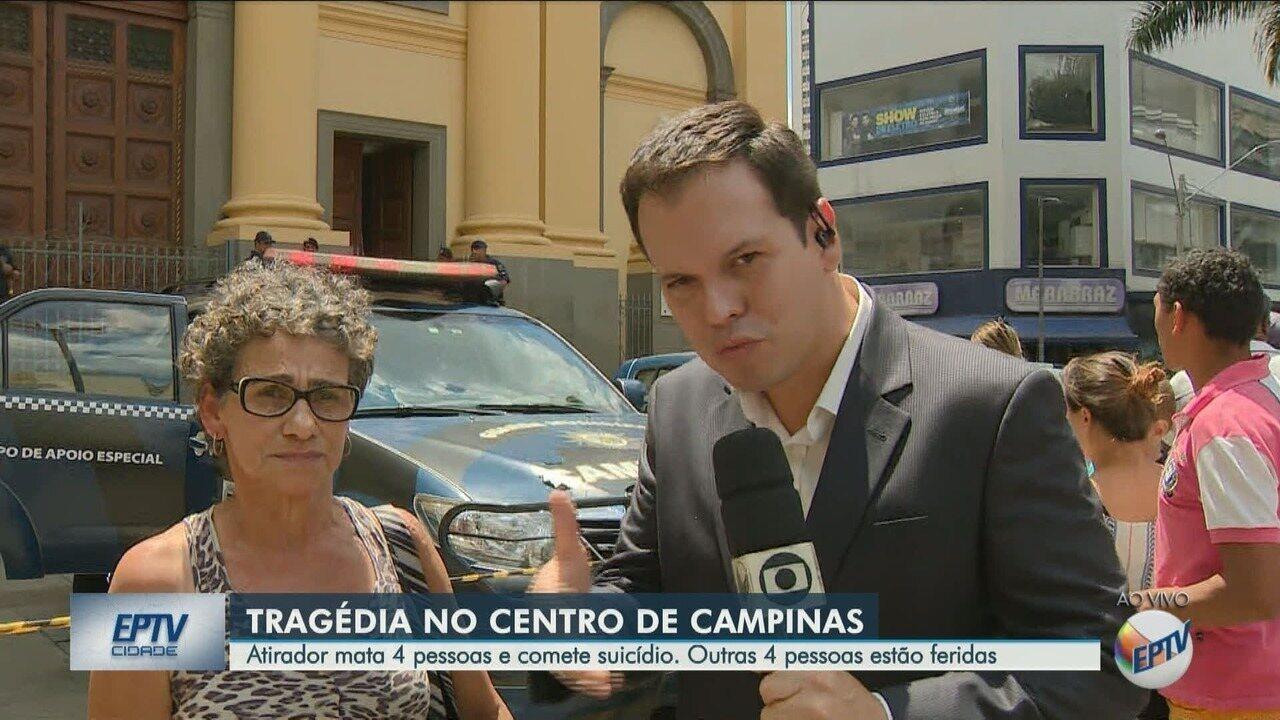 Testemunha conta que viu tumulto e ouviu barulho dos tiros na Catedral em Campinas
