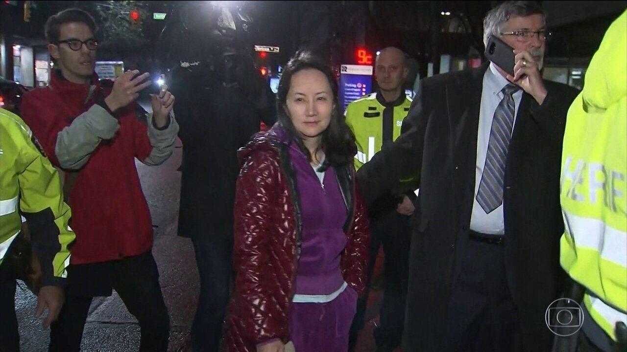 Herdeira da gigante chinesa Huawei é solta após passar 11 dias presa no Canadá