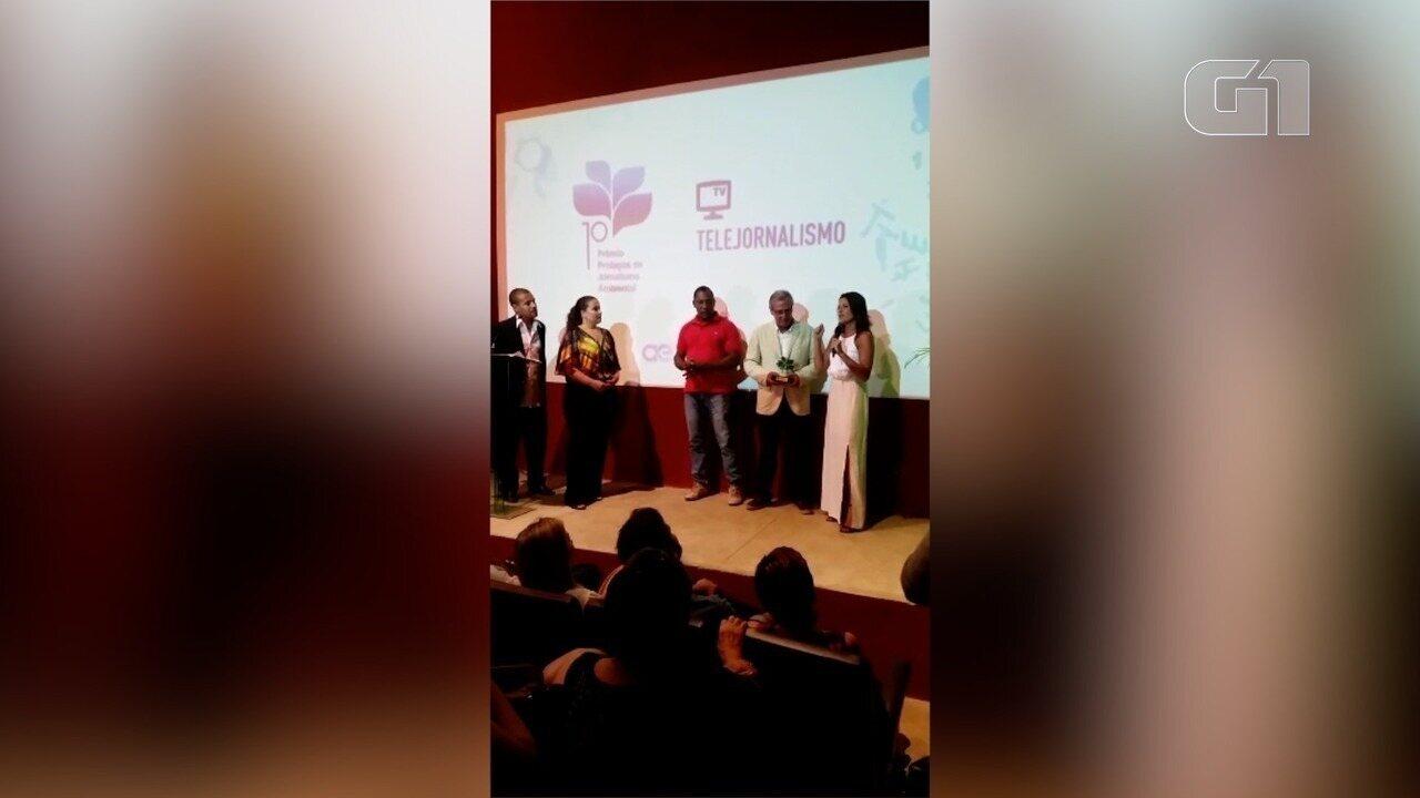Equipe da Inter TV vence prêmio de jornalismo ambiental em Cabo Frio, no RJ