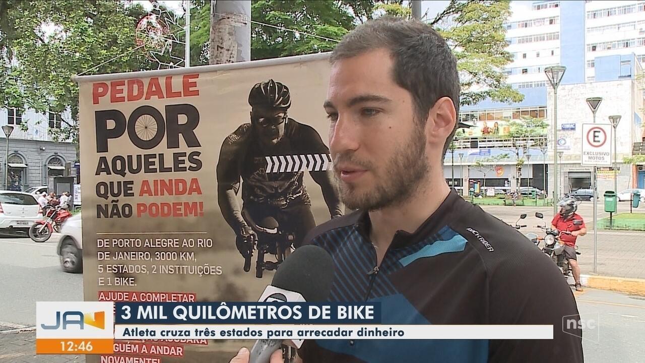 Resultado de imagem para Atleta de SC viaja três estados de bicicleta com projeto para pessoas com deficiência