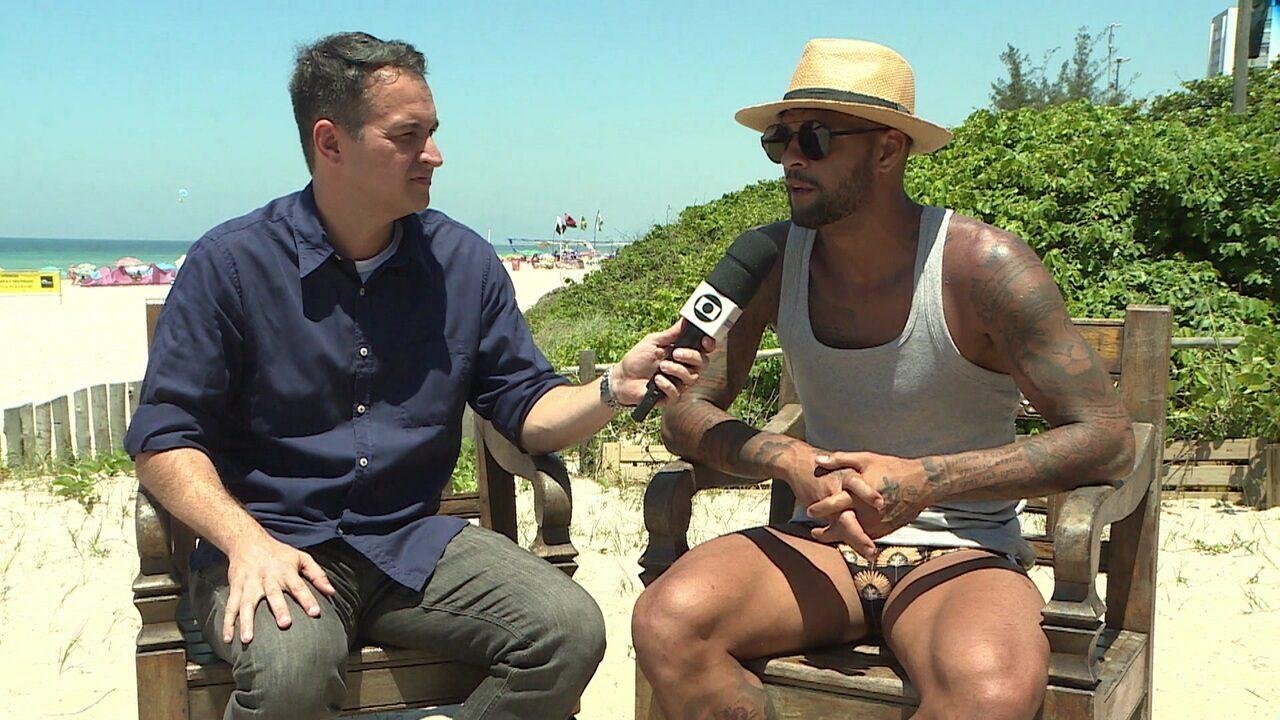De férias no Rio de Janeiro, Felipe Melo evita falar de Flamemgo