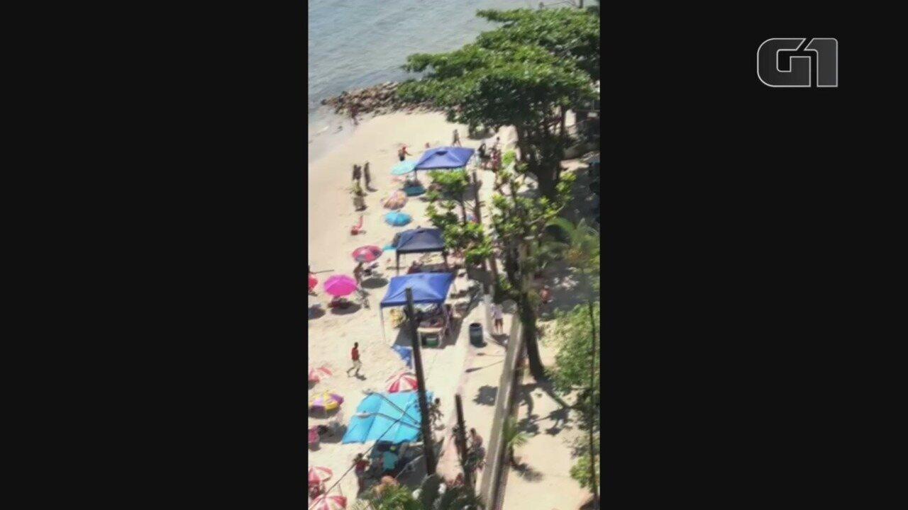 Tiroteio assusta banhistas em praia de São Vicente, SP