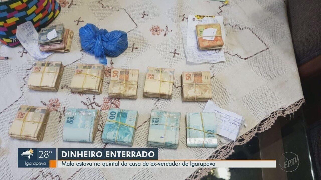 Gaeco apreende dinheiro enterrado em casa de ex-vereador preso em Igarapava, SP