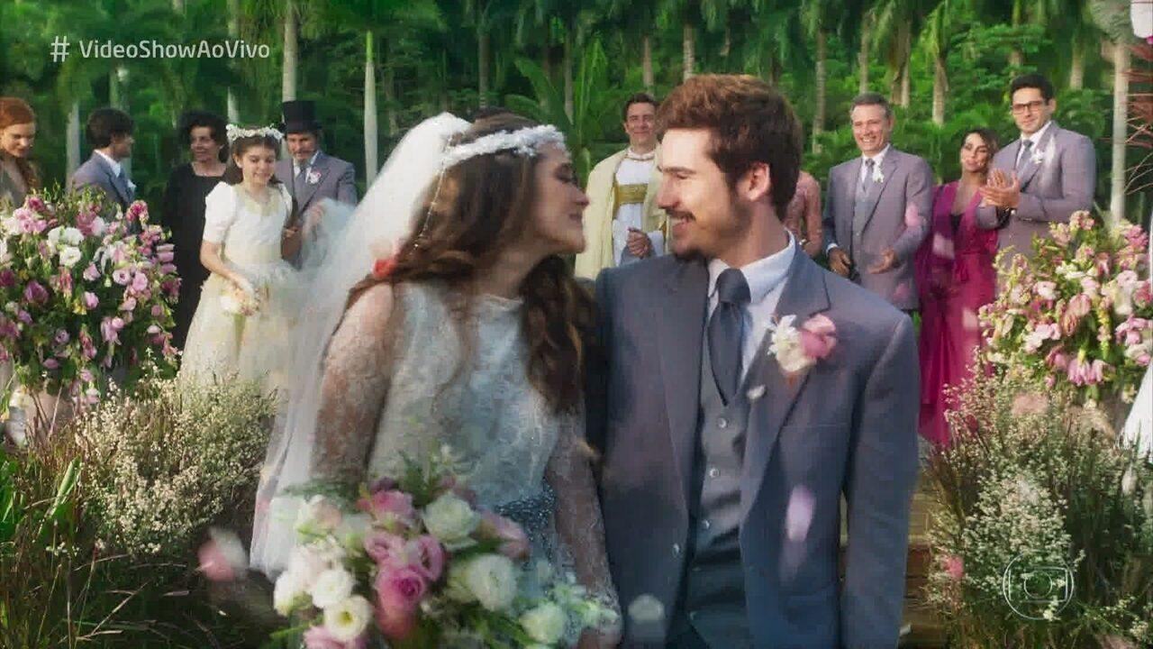 Juliana Paiva mostra seu dia de noiva em seu terceiro casamento
