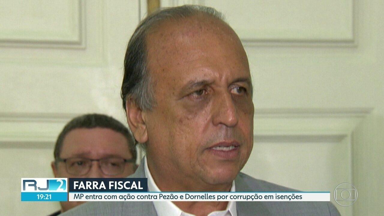 MP entra com ação contra Pezão e Dornelles por corrupção e isenções