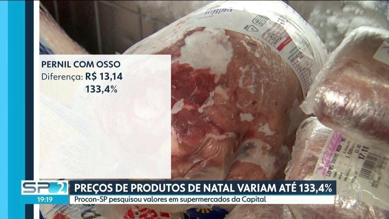 Preços de produtos de Natal variam até 133,4%.segundo pesquisa do Procon