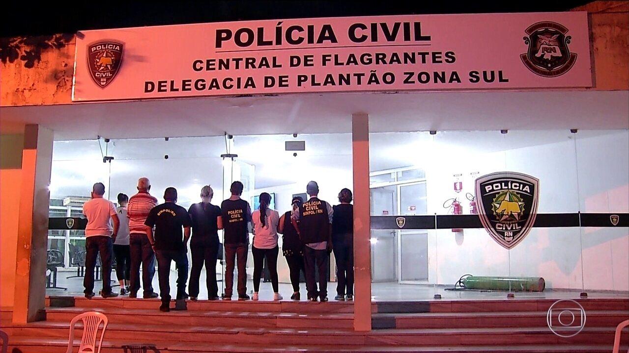Greve dos policiais civis deixa delegacias do Rio Grande do Norte fechadas