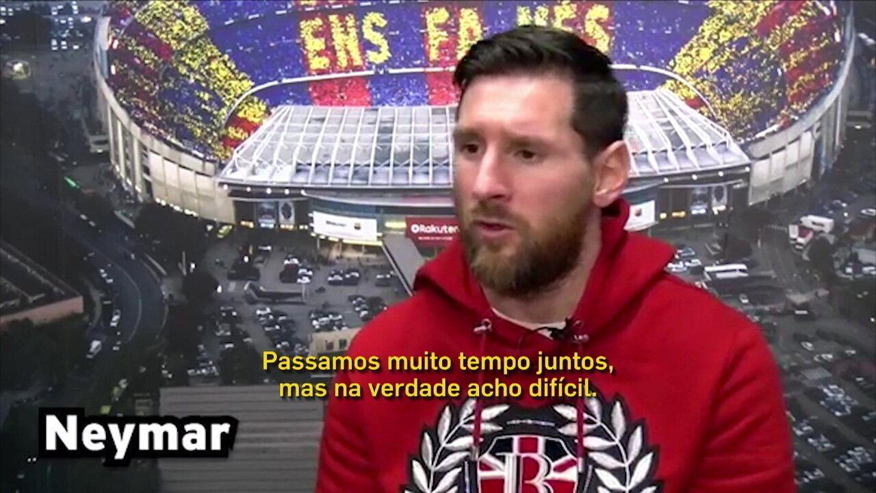 Em entrevista a jornal espanhol, Messi elogia Neymar, mas não acredita em retorno ao Barça