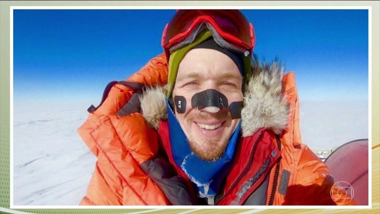 Americano é primeiro homem a atravessar Antártida sozinho e sem ajuda