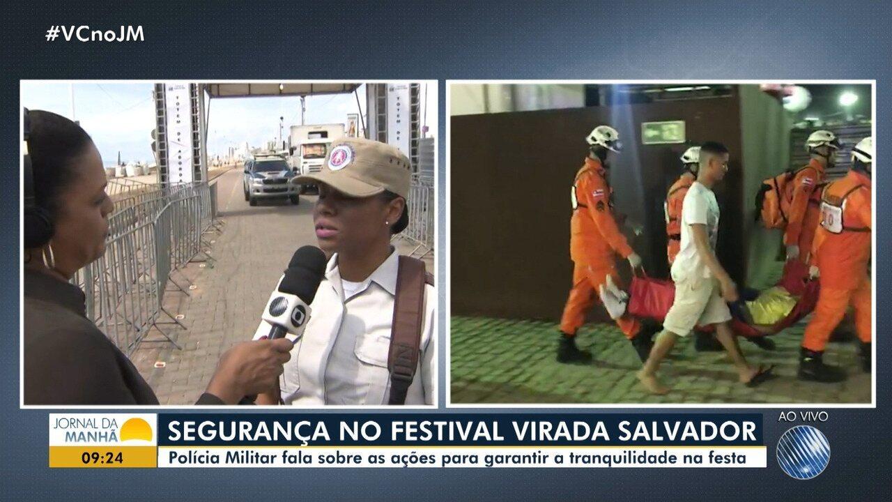 Homem fere cinco pessoas no Festival Virada Salvador; capitã da PM fala sobre o caso