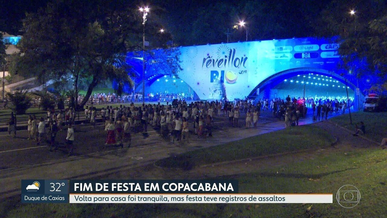 Prefeitura faz balanço do Réveillon: festa teve mais turistas que cariocas