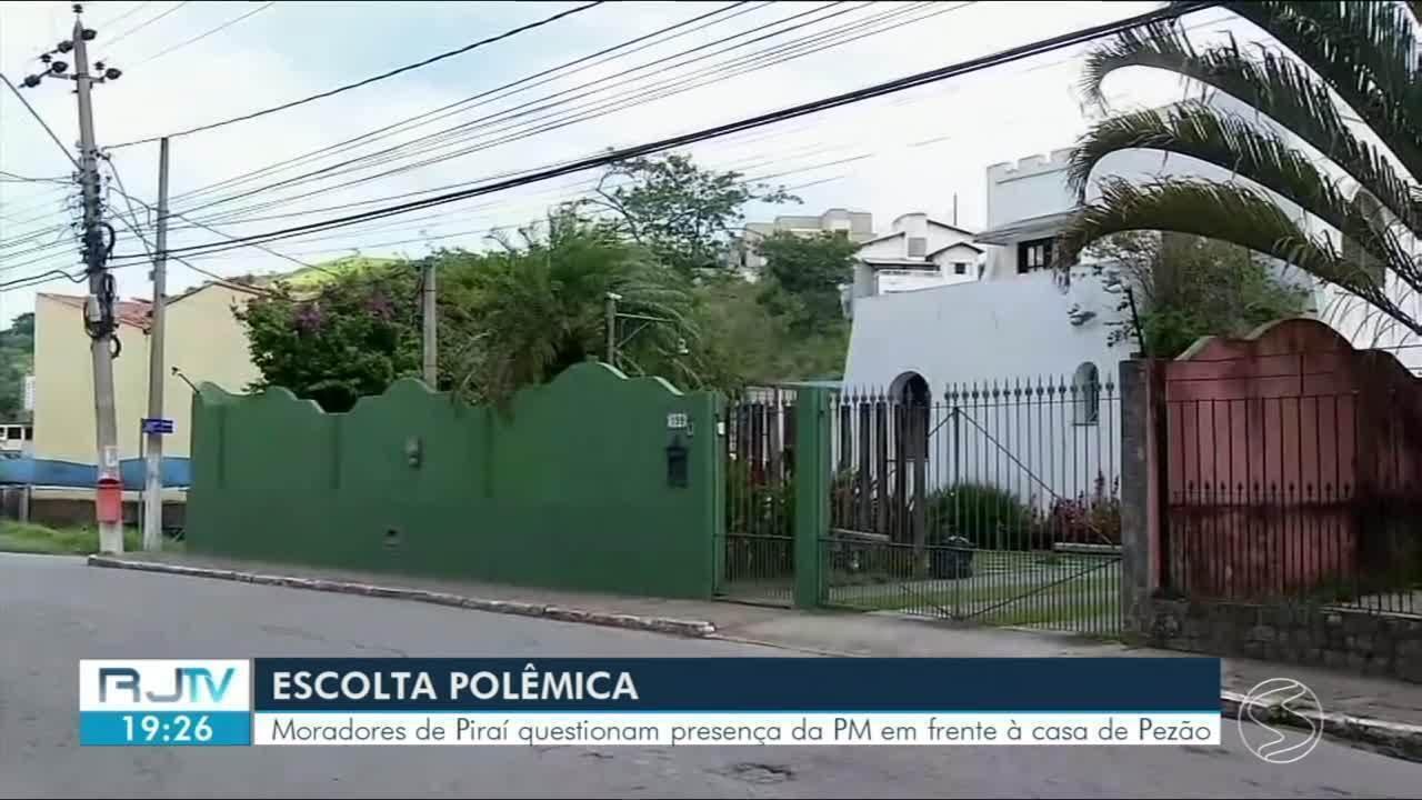Moradores de Piraí reclamam da presença da PM fazendo segurança da casa de Pezão