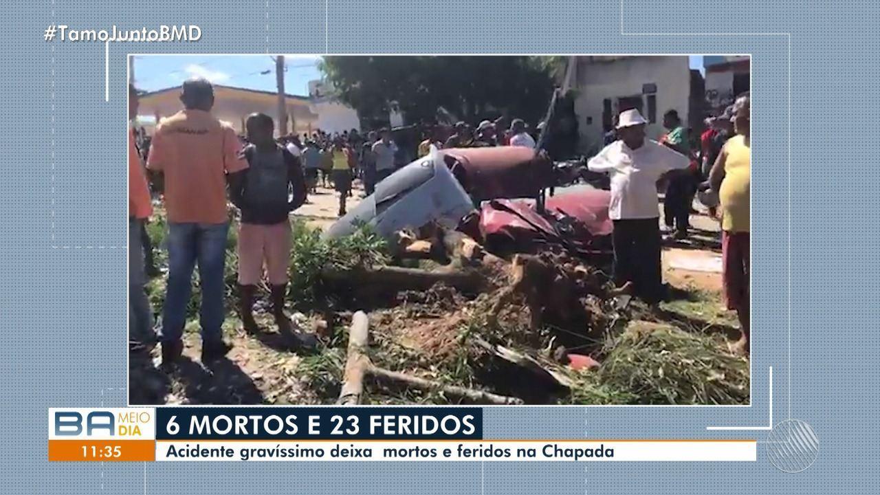 Tragédia: batida entre veículos deixa ao menos 6 mortos e 23 feridos na região da Chapada