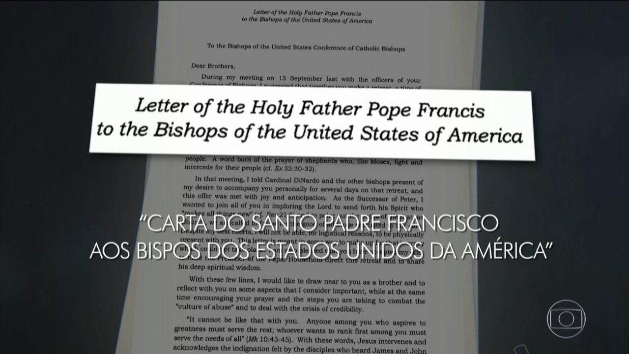 Papa Francisco afirma em carta que a 'credibilidade da igreja foi seriamente abalada'