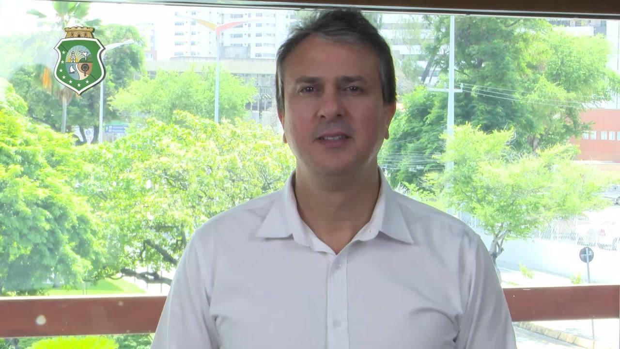 Camilo Santana faz pronunciamento sobre os ataques no Ceará