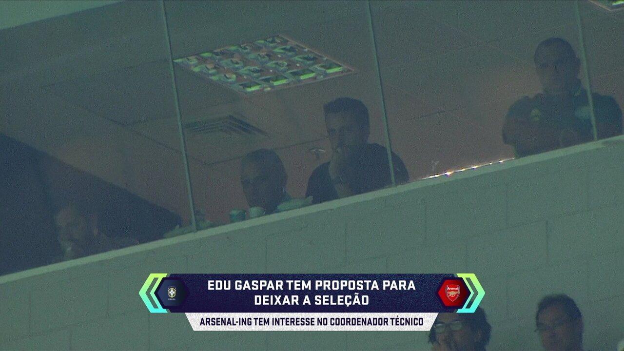 Central do mercado: Arsenal mostra interesse em Edu Gaspar, coordenador da Seleção