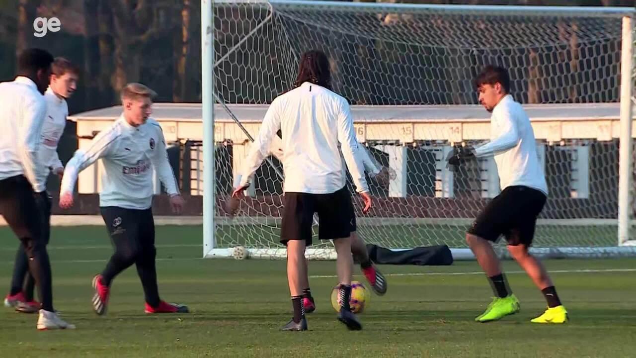 Lucas Paquetá faz primeiro treino no Milan