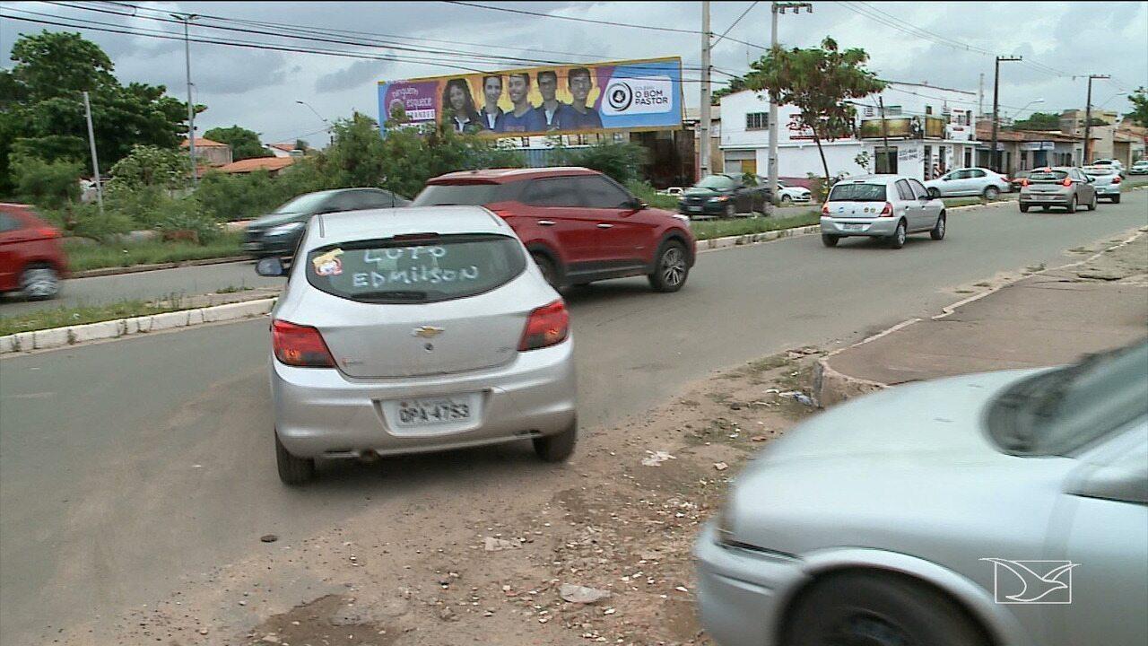 Motoristas de aplicativo fazem carreata em protesto após morte de condutor em São Luís