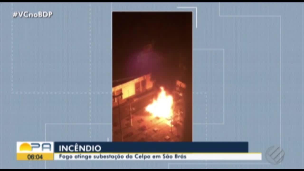 Subestação da Celpa é atingida por incêndio durante a madrugada