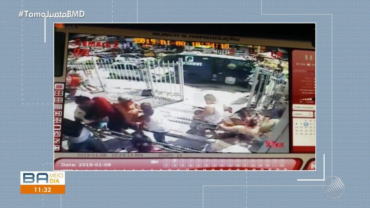 Bandidos deixam dois feridos durante assalto a carro-forte em Periperi