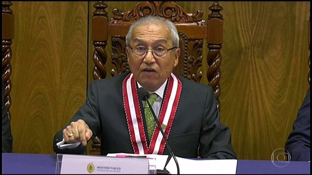 Procurador-geral do Peru anuncia renuncia em meio a investigação envolvendo Odebrecht