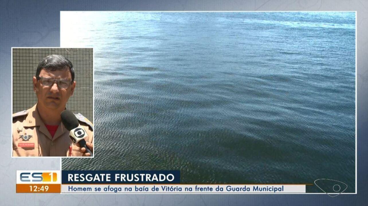 Bombeiro explica 'demora' para chegar até homem que morreu afogado na Baía de Vitória