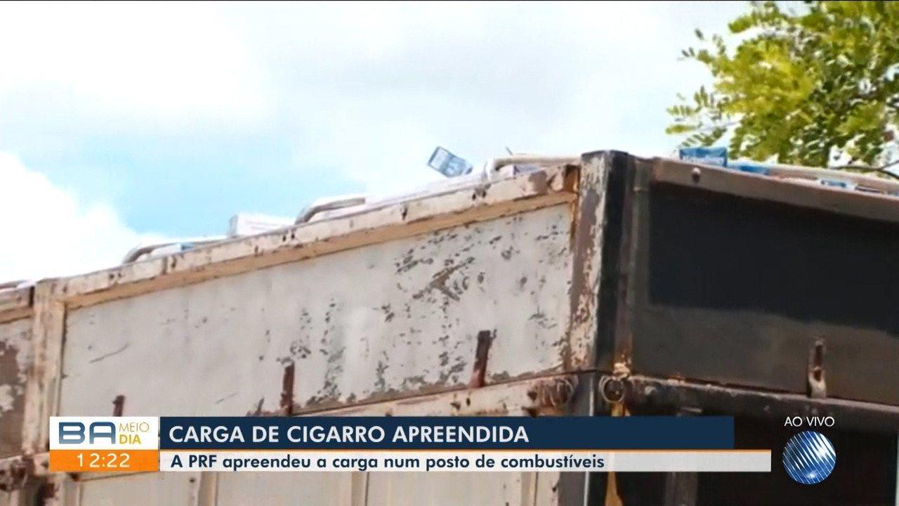 PRF apreende carreta com carga de 8 milhões de cigarros em Vitória da Conquista