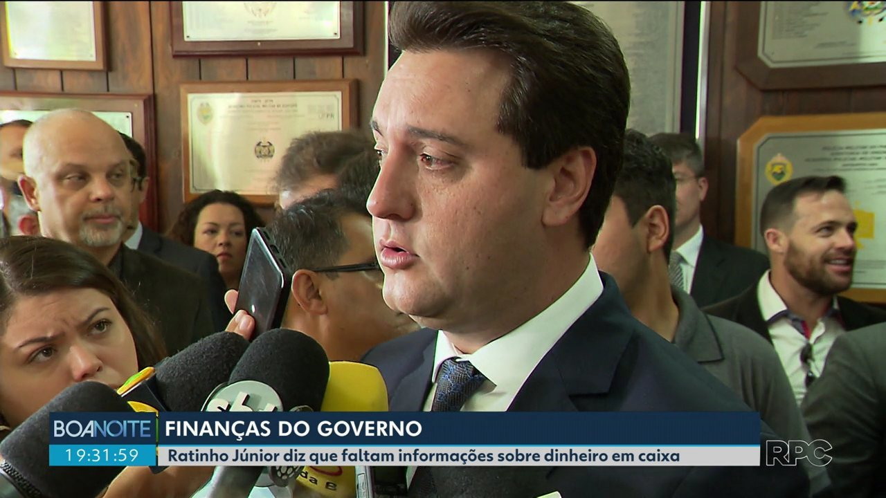 Governador Ratinho Júnior diz que ainda faltam informações sobre o dinheiro em caixa