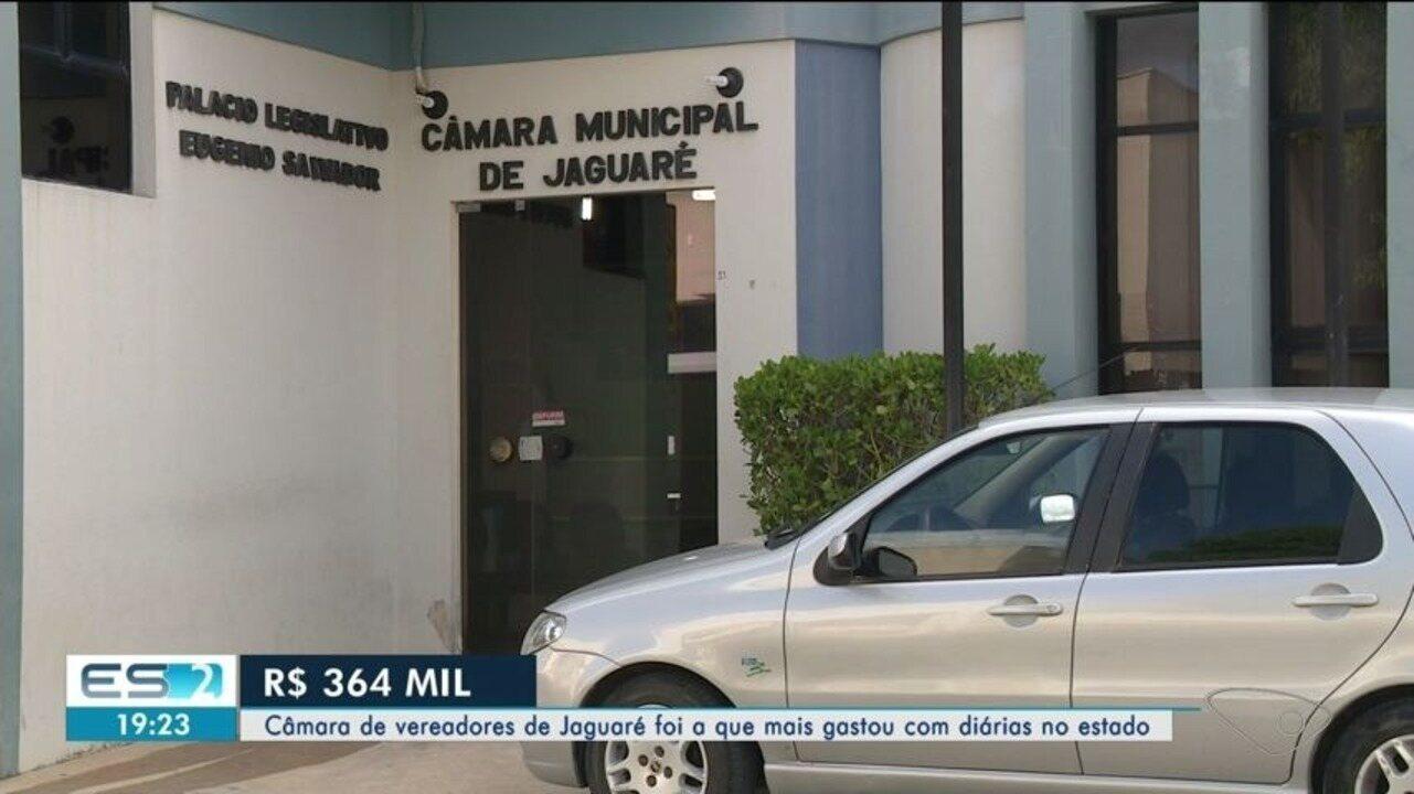 Vereadores de Jaguaré foram os que mais gastaram com diárias no ES