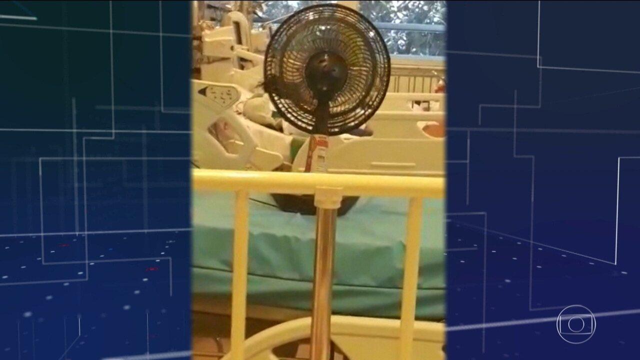 Pacientes da rede pública de saúde do Rio sofrem com o calor e a falta de ar condicionado