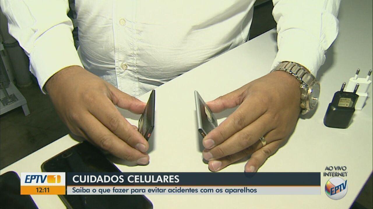 Especialista dá orientações sobre como evitar acidente com celulares