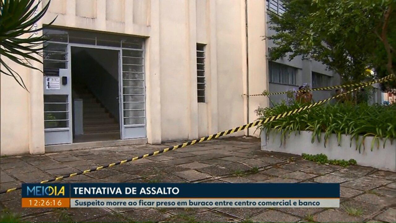 Ladrão morre soterrado em centro comercial de Curitiba durante tentativa de assalto