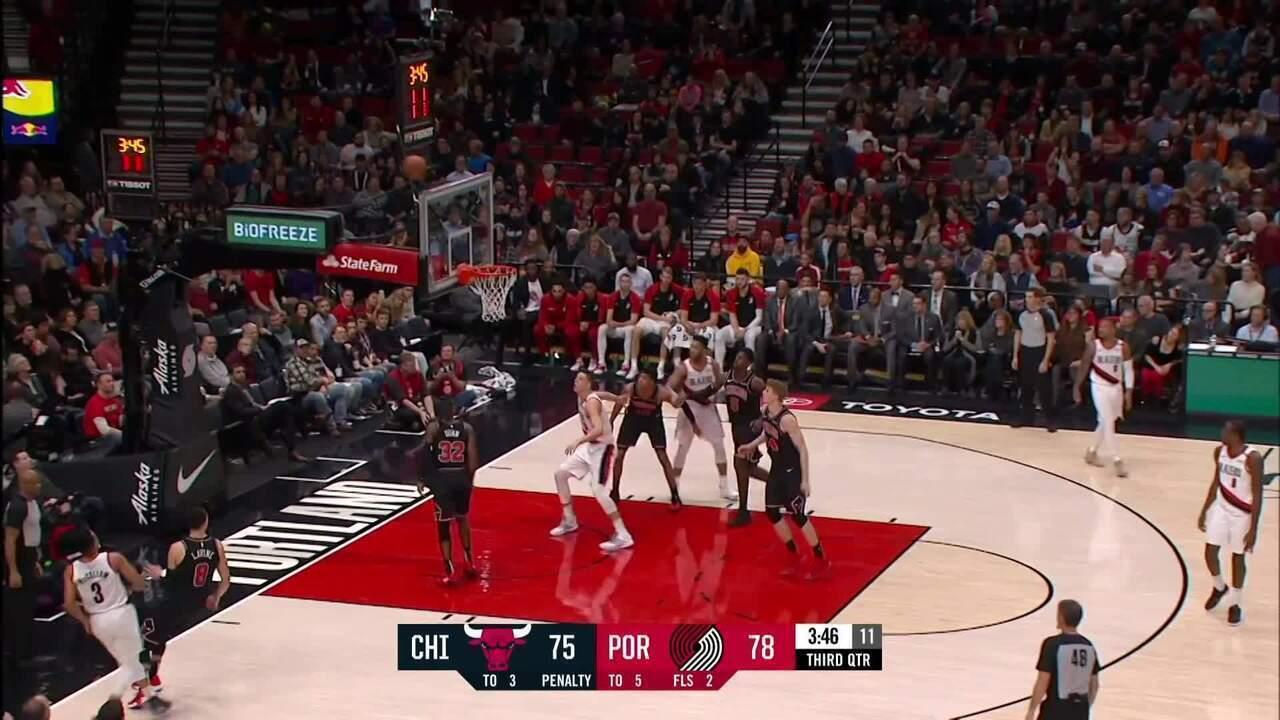 Melhores momentos: Trail Blazers 124 x 112 Bulls pela NBA